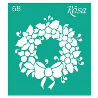 Трафарет самоклейка многоразовый 9*10см Rosa Talent №68 3625168