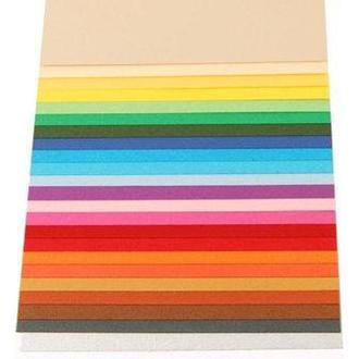 Бумага для дизайна А4 21*29,7cм Elle Erre 220г/м2 №26 оранжевая две текстуры 16F41026