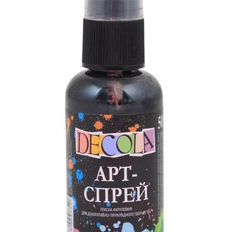 Краска-спрей акриловая ЗХК Невская Палитра Decola 50мл черная 352868