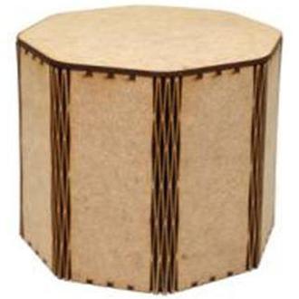 Заготовка для декорирования Zabava (ДВП) Шкатулка Восьмиугольник 10,6*10,3см CAS01001-3