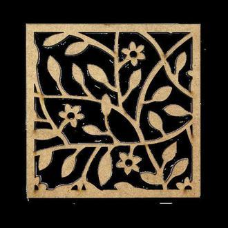 Набор подставок для чашек 2шт квадратные (МДФ 5мм) Rosa Шебби-шик 10*10см GPТ50045590