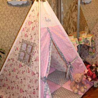 Вигвам, игровая палатка , детский домик, шалаш, шатер, teepee