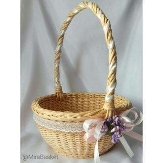 Пасхальная корзина / корзина для цветов / корзина декоративная