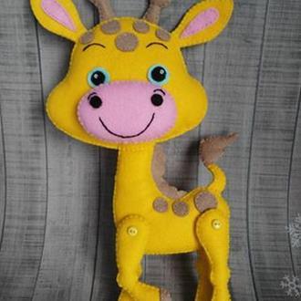Жираф из фетра.