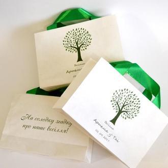 Бумажные пакеты с инд. печатью