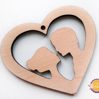 Фигурная накладка (шильда) Влюбленные сердца