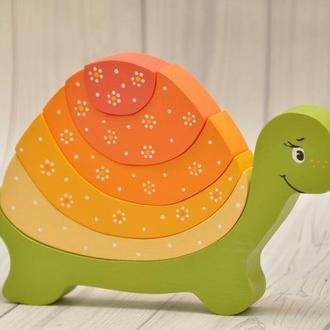 """Деревянные игрушки """"Разноцветные черепашки"""""""
