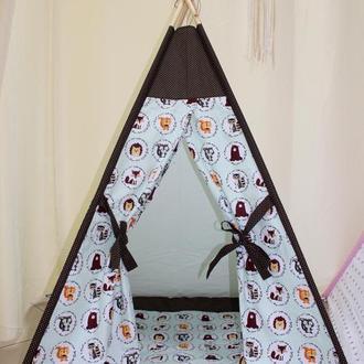 Вигвам, детский игровой домик, палатка для детей, шатер, шалаш
