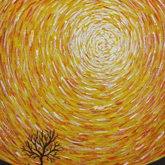 Энергетическая живопись. Вселенская спираль. Картина 40x50 см.  Акрил, холст на подрамнике