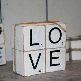 """Кубики """"Любовь -это..."""""""
