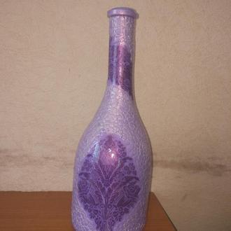 """Декор для дома  Бутылка """"Фиолет"""""""