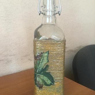 """Декор для дома  Бутылка """"Лоза"""""""