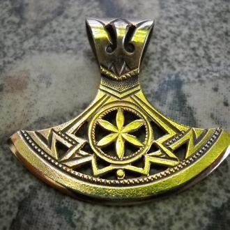 Кулон-Оберіг «СОКИРА ПЕРУНА-1» (бронза)
