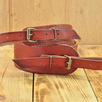 Ремінь рушничний - колір коричневий бренді