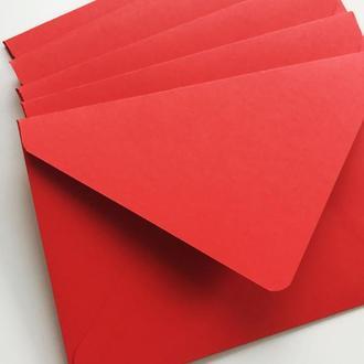 Конверт кольоровий в асортименті (red)
