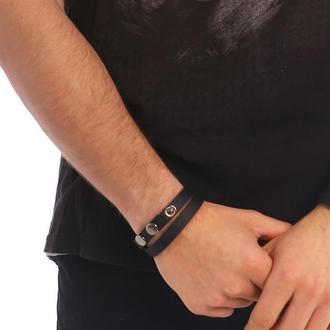 Двойной кожаный браслет от мастерской Wild