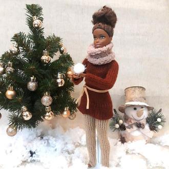 Одежда на куклу Барби. Теплый комплект.
