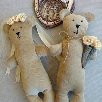 Игрушки мишки: свадебная пара