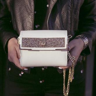 Эксклюзив! Белая кожаная сумка ручной работы