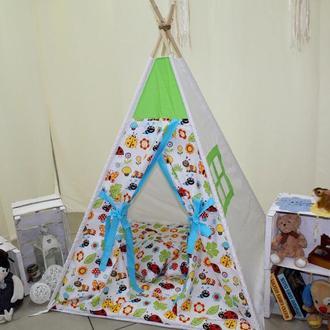 Детский игровой домик, вигвам, палатка для детей, шатер, шалаш