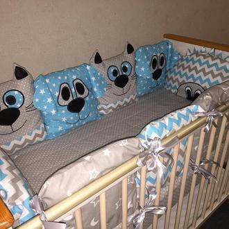 Бортик-защита в кроватку для вашего малыша