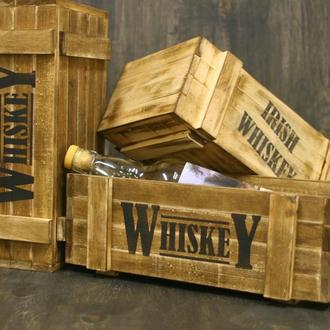 Деревянный декоративный ящик Whiskey