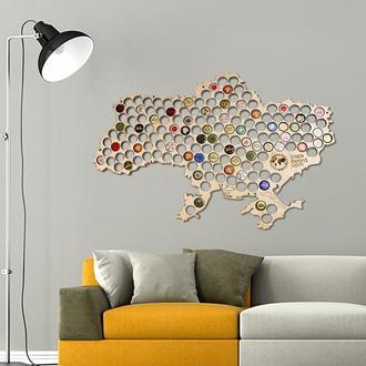 Карта для пивных крышек CAPSBOARD UKRAINE BIG с подставками