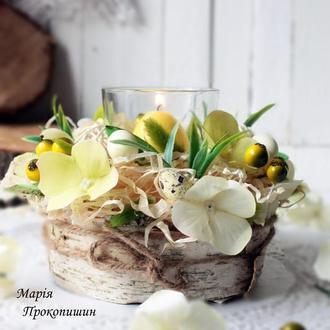 Пасхальна композиція-підсвічник ′Весняний′