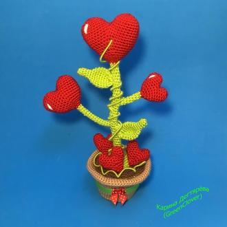 Сердечный цветочек