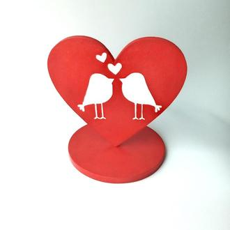 Подставка сердце к дню Святого Валентина