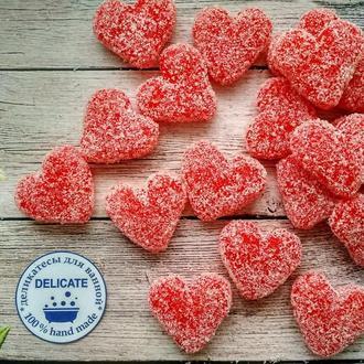 """Сахарный скраб для тела """"Сердечки"""" с эфирным маслом иланг-иланга"""