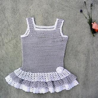 Платье детское лавандовое из хлопка