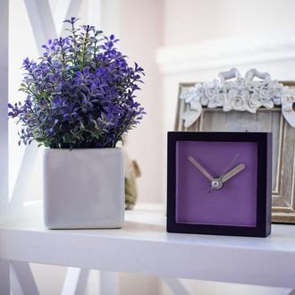Часы деревянные настольные классические IV (фиолет)
