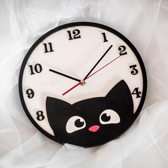 """Детские настенные часы """"Котенок"""""""