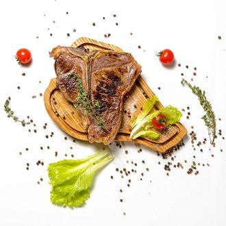 Доска для подачи мяса в виде стейка Тибон (T-Bone), разделочная доска