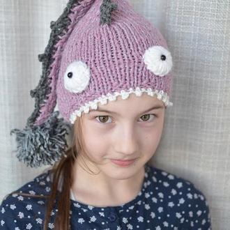 """вязаная шапка """"Рыба-дракон"""""""