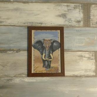 Вышитая картина - Слон