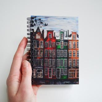 """Авторский блокнот """"Амстердам"""". Бежевые страницы. Оригинальный подарок"""