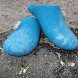 Мужские тапочки Голубая лагуна
