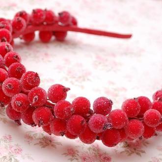 Обруч ободок венок с ягодами калины