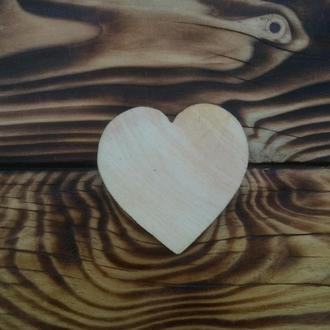 Деревянная заготовка «Сердце» 60×65мм