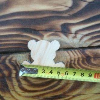 Деревянная заготовка «Медвежонок» 50×60мм