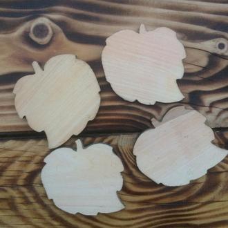 Деревянная заготовка «Листик» 65×70мм