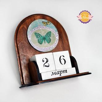 Вечный календарь Бабочки ретро