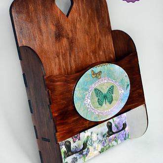 Ключница Бабочки ретро