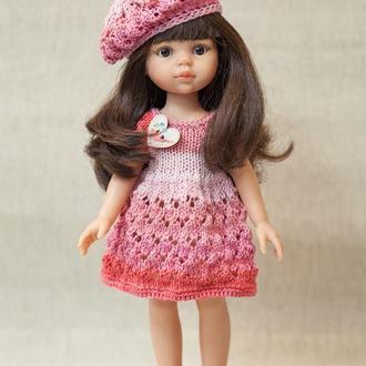 Одежда для кукол Паола Рейна. Комплект в розовых тонах с беретом