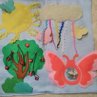 планшет или коврик  или подушечка из текстиля и  фетра