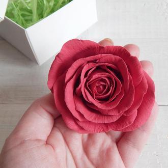 Шпилька с розой 6-7 см (1 шт)