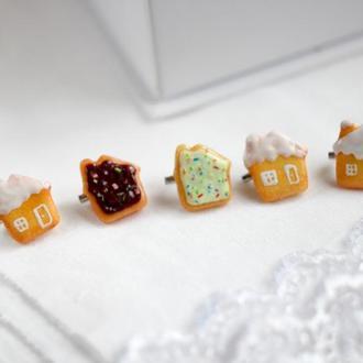 Брошь дом печенье брошь из полимерной глины