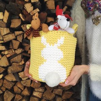 Подарунок на день Нарождення, корзина для іграшок, декор для дитячої кімнати корзина на Великдень